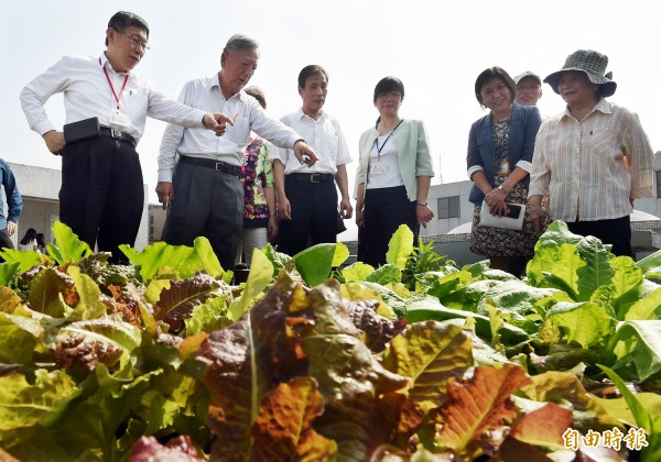 市議員王鴻薇批評北市府田園城市計畫,指國小菜園有被偷的情況。台北市長柯文哲今中午於市府受訪指,這表示我們菜種得很好。(資料照,記者廖振輝攝)