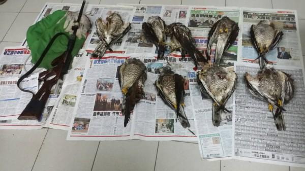 警方破獲獵殺國慶鳥。(記者蔡宗憲翻攝)