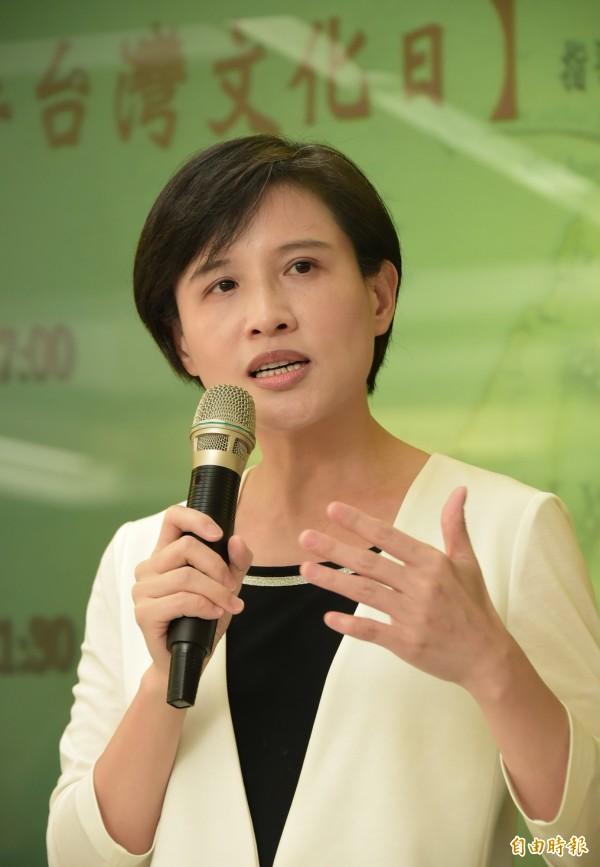 文化部長鄭麗君出席台灣文化日活動。(記者胡舜翔攝)