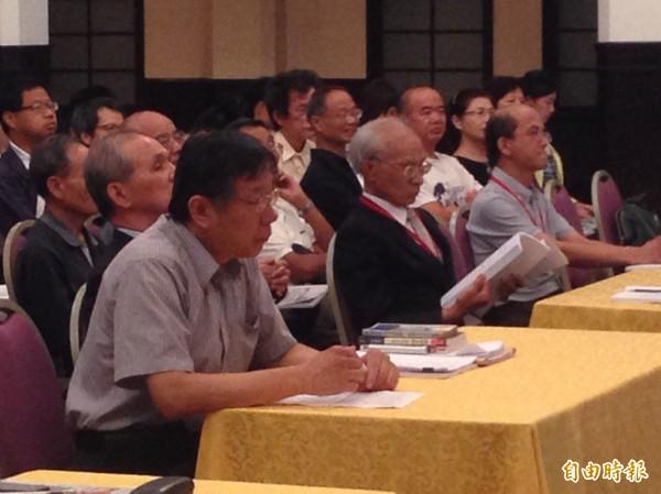 台北市長柯文哲今日出席「台灣文化協會成立95周年暨蔣渭水紀念逝世85周年研討會」(記者何世昌攝)