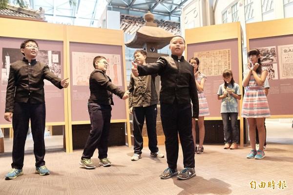 國立台灣歷史博物館與和順國小合作,25-27日舉辦「歷史戲遊趣-小學生戲劇活動」。(記者劉婉君攝)