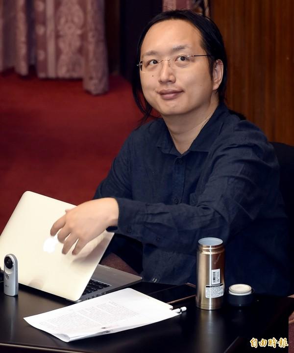 政務委員唐鳳,每週三、五都採取「遠距上班」,創下內閣政務每週有兩天不在辦公室上班的首例。(資料照,記者朱沛雄攝)
