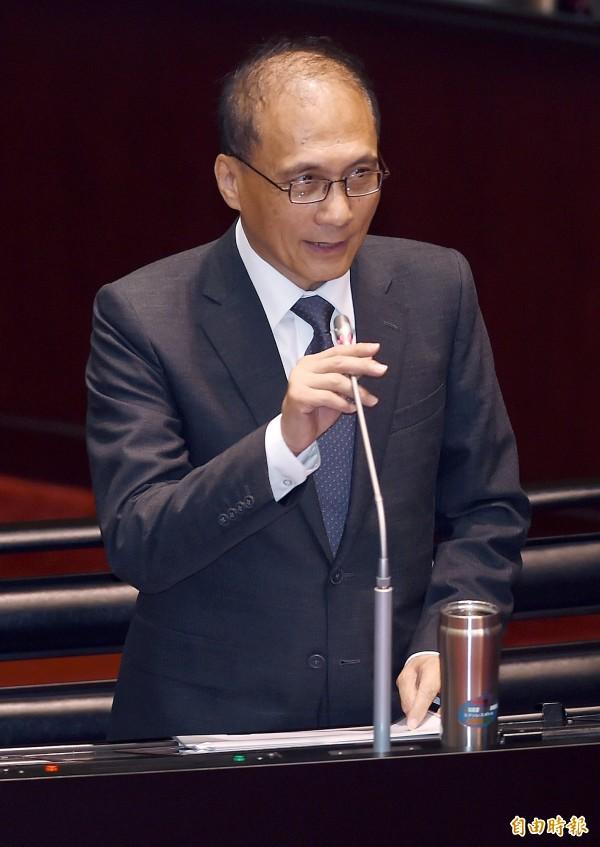 行政院長林全今赴立院院會接受立委質詢。(記者朱沛雄攝)