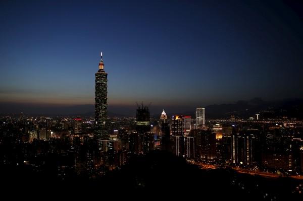 全球城市綜合實力排名,台北去年名列32名,今年下跌一位至33名。(資料照,路透)