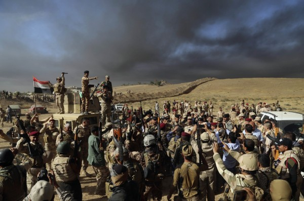 IS節節敗退,聯軍有望奪回摩蘇爾。(美聯社)