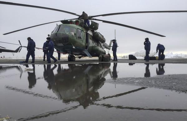俄羅斯Mi-8直升機墜毀造成19死,事故原因尚待調查。(美聯社)