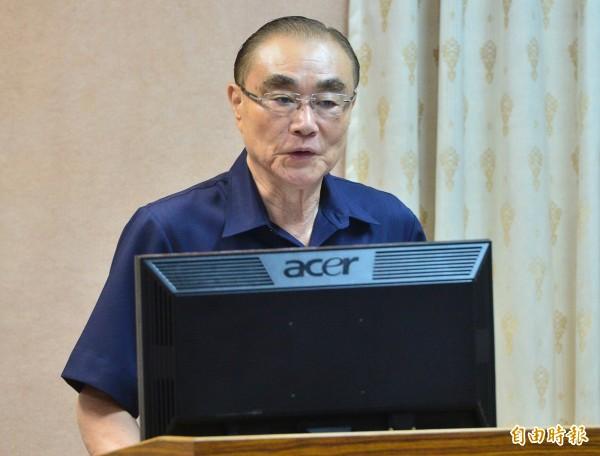 國防部長馮世寬明將赴立院報告成立國防科技發展室的目標。(資料照,記者王藝菘攝)