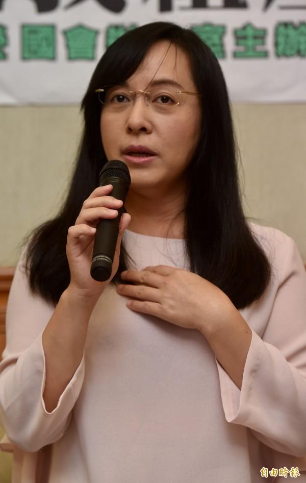 民進黨籍立委陳瑩今(24)日表示她受到死亡威脅。(資料照,記者簡榮豐攝)