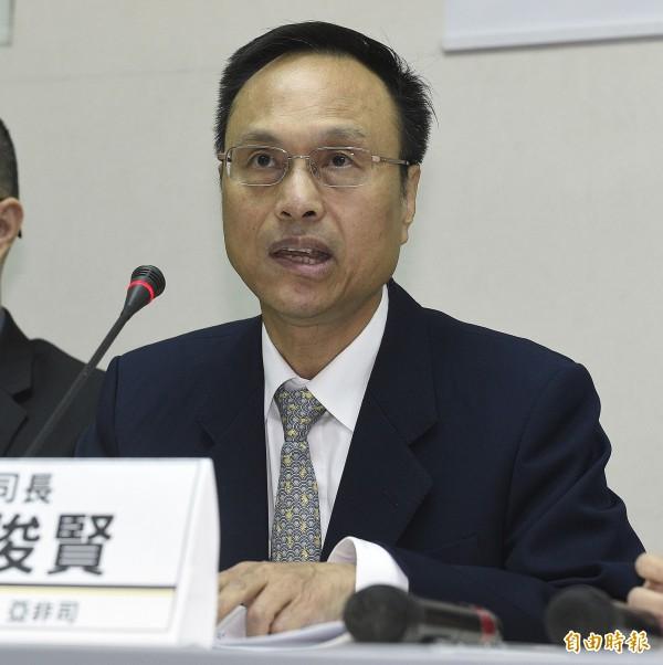 外交部亞非司司長陳俊賢說明政府救援過程。(資料照,記者陳志曲攝)
