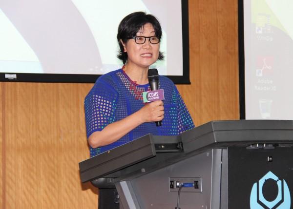 台科大舉辦2016 ICDHS研討會,曾於UCLA任教,現為香港大學教授史書美針對「台灣文化與設計」發表演說。(台科大提供)