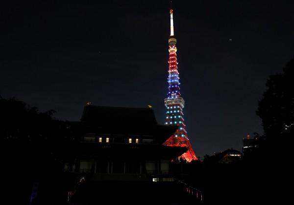 圖為東京鐵塔。(資料照,法新社)