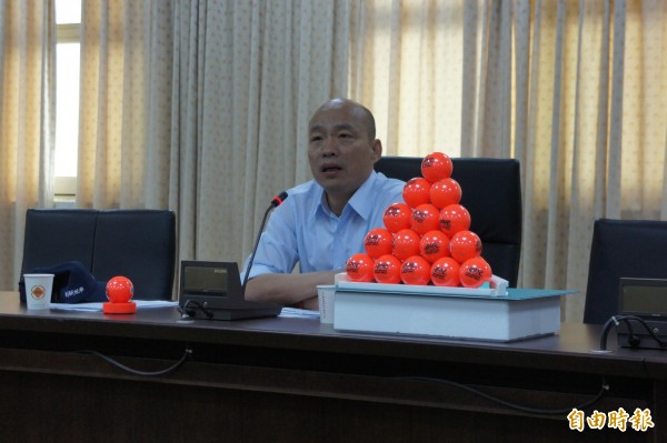 台北農產運銷公司總經理韓國瑜。(資料照,記者黃建豪攝)
