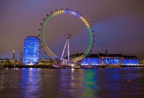 2016年最受台灣旅客歡迎的10個城市中,倫敦是歐美城市中唯一名列榜上的。圖為倫敦眼。(資料照,美聯社)