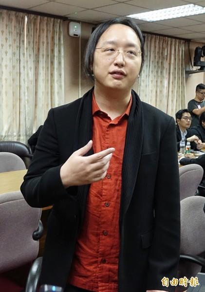 政務委員唐鳳。(記者劉信德攝)