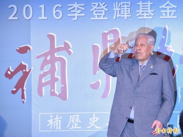 台灣人的悲哀是什麼? 李登輝說,台灣人無法度行家己的路,開創自己的命運。(資料照,記者劉信德攝)