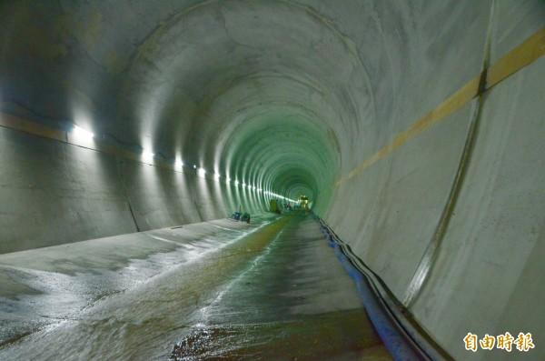 曾文水庫防淤隧道總長逾1.2公里,進水口工法為世界首創。(記者吳俊鋒攝)