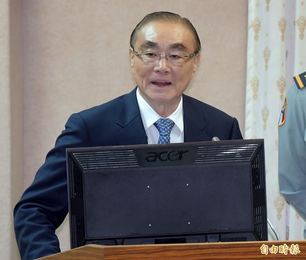 立法院外交及國防委員會2日邀請國防部長馮世寬列席報告備詢。(記者黃耀徵攝)