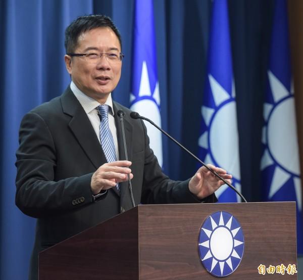 國民黨政策會執行長蔡正元。(資料照,記者黃耀徵攝)