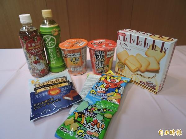 日本核災區食品,除福島其餘4縣擬逐批檢驗開放。日本進口食品示意圖。(資料照,記者賴筱桐攝)