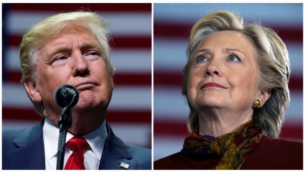 從佛羅里達州的最新3份民調結果顯示,川普(左)、希拉蕊互有微幅領先,選情幾乎陷入膠著。(路透社)