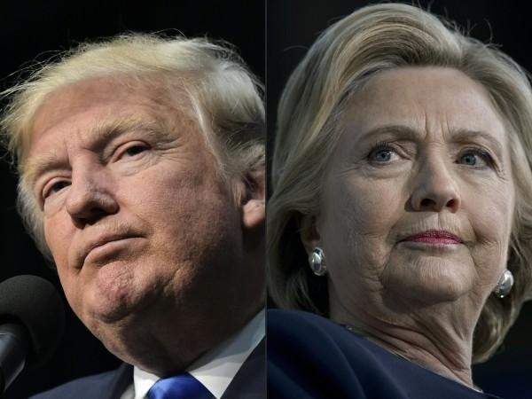 關鍵佛羅里達州已開出2%總票數,目前共和黨候選人川普得票率約佔58.4%,希拉蕊得票率約佔28.2%,川普呈現大幅度領先。(法新社)