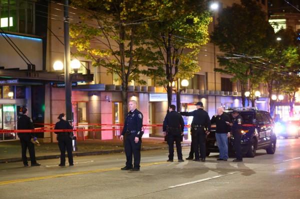 西雅圖市中心發生槍擊事件,警方認為與抗議行動無關。(美聯社)