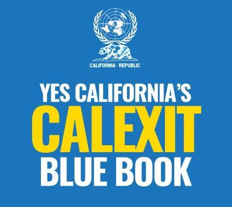 聯署網站刊出加州脫美藍皮書,其中從各面向考量,列舉出9項脫美獨立的優點。(擷取自「Yes California」)