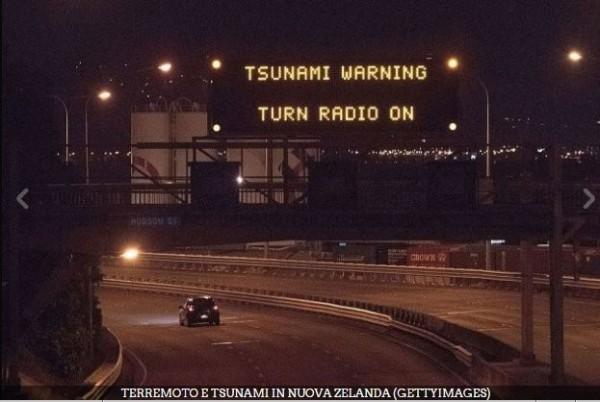 紐西蘭已發布海嘯警戒。(圖擷取自推特)