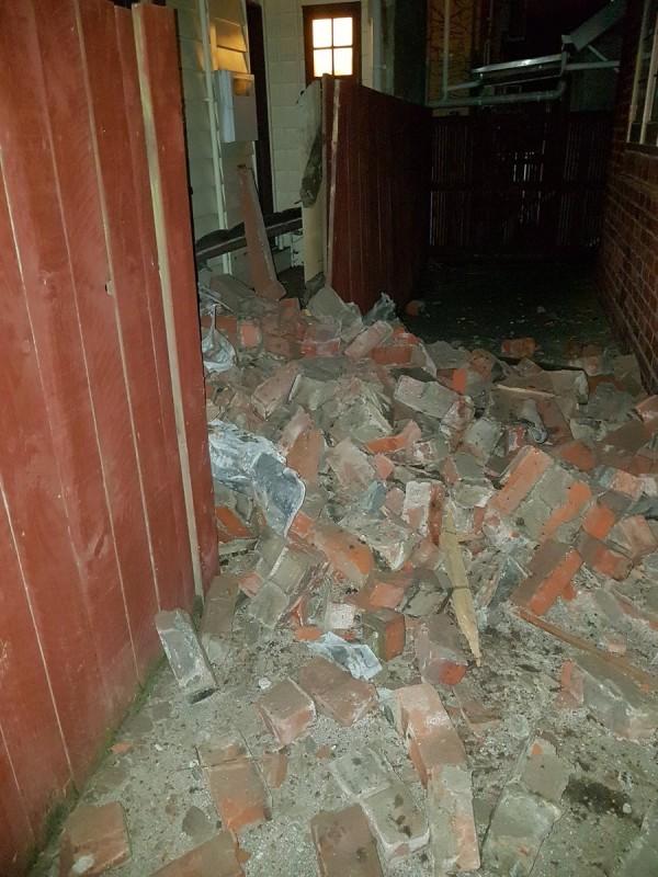 地震災情。(圖擷取自推特)