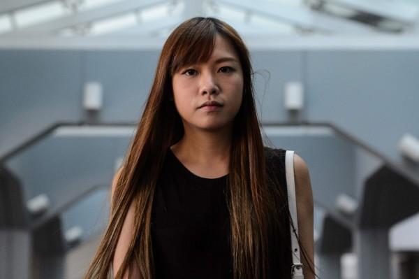 游蕙禎今天在臉書上表示,中國政府已違反「中英聯合聲明」,希望英國介入。(法新社)