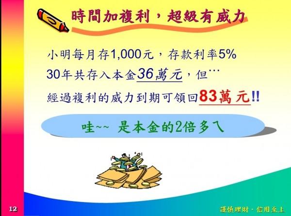 金管會官方網站設置「金融教室」,內容提到存款利率有5%(記者王孟倫翻攝)