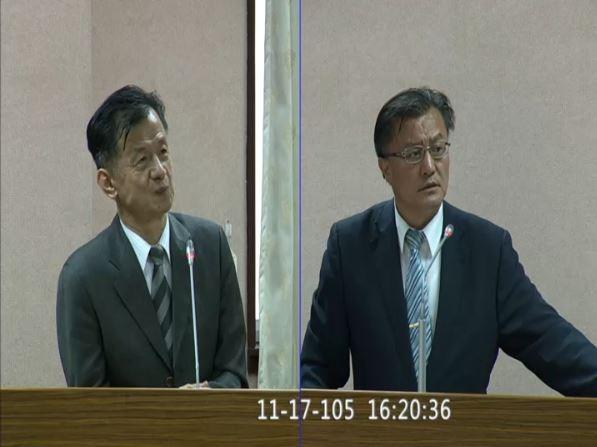 孔文吉在司法及法制委員會中質詢法務部長邱太三時直言:「先好好尊重我們原住民,我們再好好尊重同性戀。」(圖擷取自立法院議事轉播IVOD網際網路多媒體隨選視訊系統)