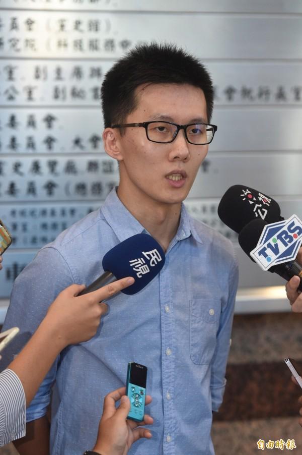藍營前青年團長蕭敬嚴,對國民黨政策會執行長蔡正元的反同言論「嚴厲譴責」。(資料照,記者叢昌瑾攝)