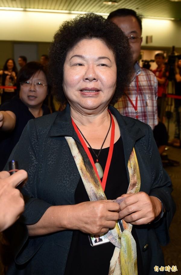 陳菊表示,蔡英文是必須做出承擔的總統,要撐住、堅持理想。(資料照,記者簡榮豐攝)