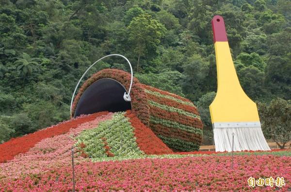 宜蘭綠色博覽會舉辦地點將從武荖坑搬至生態綠舟;圖為今年於武荖坑舉辦的綠博。(資料照,記者游明金攝)