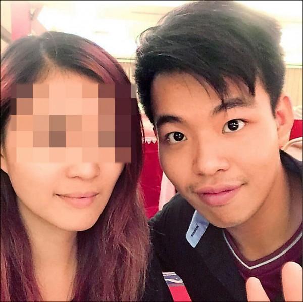 吳典鴻臉書放著和女友的甜蜜合影,不料卻下毒手。 (記者曾健銘翻攝)