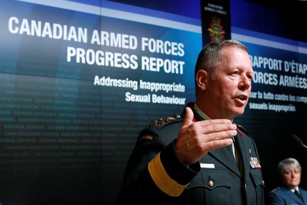 加拿大國防部參謀長溫斯(圖)日前才表示,國防部有機構保衛網上安全,沒想到就發生軍方招聘網站被駭事件。(路透)