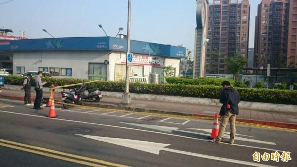 案發地點,警方日前封鎖現場釐清案情。(記者姚岳宏攝)