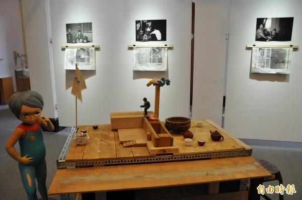竹市美術館年度壓軸《藝遊為境:遇見新竹新藝象》當代藝術展,展現舊城風貌。(記者蔡彰盛攝)