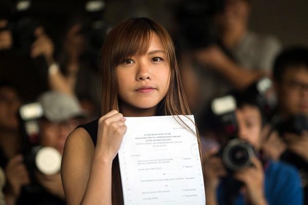 「青年新政」議員游蕙禎被香港高等法院判定喪失香港立法會議員資格。(歐新社)