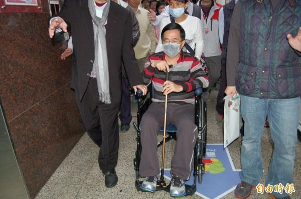 《新台灣加油》播出前總統陳水扁的談話片段,阿扁表示,現在台灣的狀況比他當年做總統時情況更險峻。(資料照,記者楊金城攝)