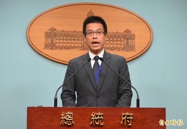 總統府發言人黃重諺表示,總統府支持婚姻平權,至於法案上如何落實,總統府尊重國會的討論,沒有既定立場。(資料照,記者張嘉明攝)