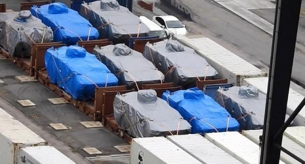 由高雄出發前往新加坡的貨輪,因載有軍武遭香港海關查扣。(圖片擷取自《傳真社》)