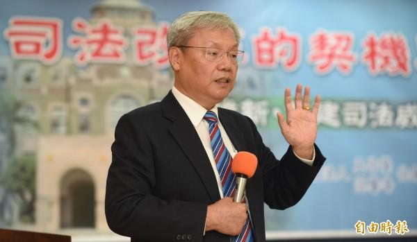 司法院前副院長蘇永欽出席「司法改革的契機與挑戰」座談會。(資料照,記者劉信德攝)