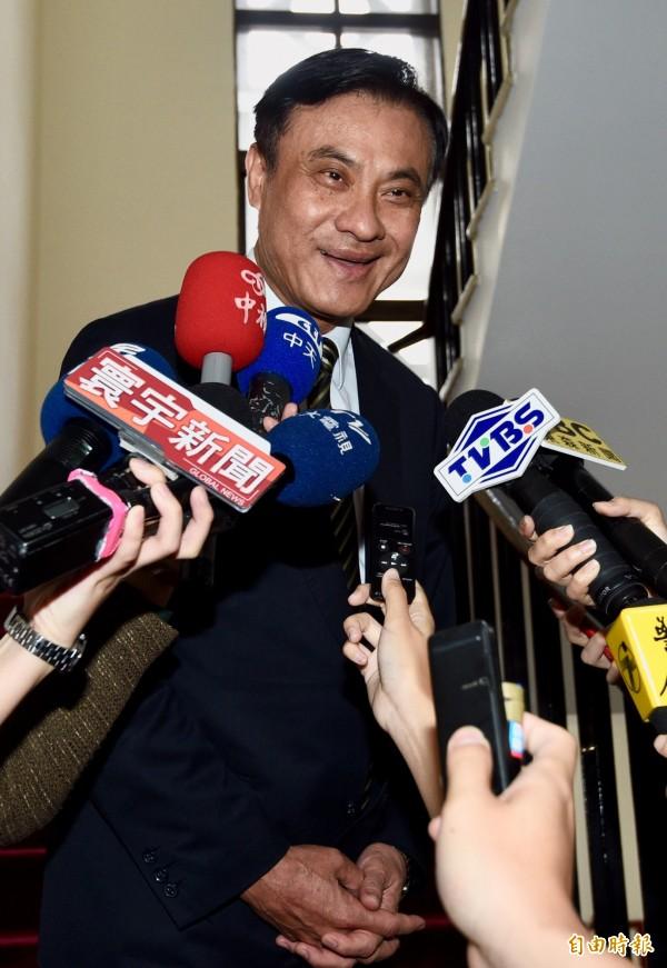 立法院長蘇嘉全表示,選罷法修正案有不同意見的不多。(資料照,記者羅沛德攝)
