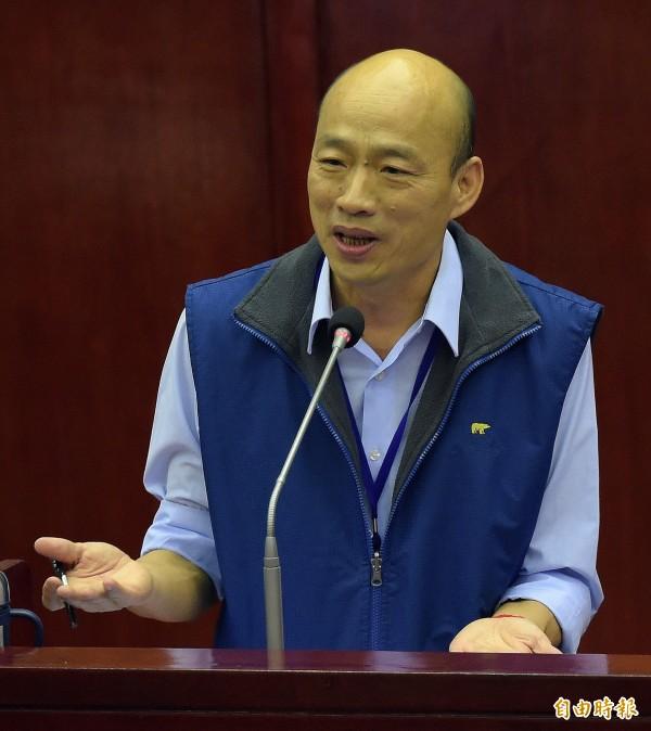 台北農產公司總經理韓國瑜。(資料照,記者黃耀徵攝)