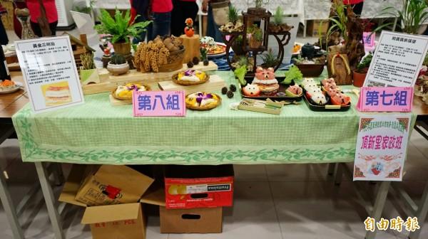 頂新里第七組「熊寶寶米漢堡」為3名季軍之1。(記者陳彥廷攝)
