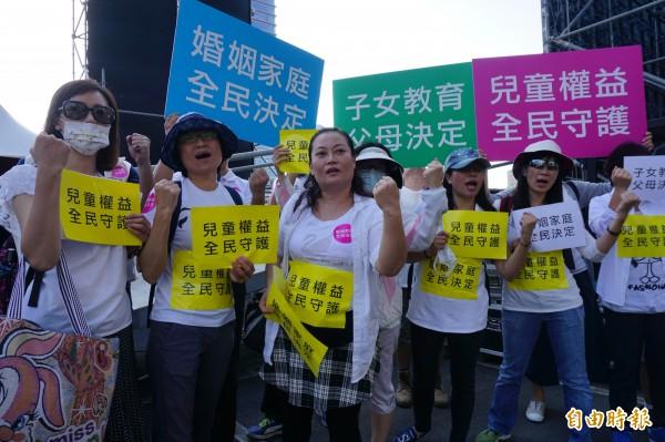 最近同志婚姻成為台灣的熱門議題,支持和反對同婚的人都有自己的立場,也都透過上街遊行表示意見。(資料照,記者蔡淑媛攝)