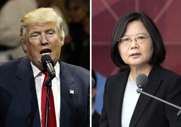 美媒今指出,川蔡通話是策畫已久的安排,也反映了鷹派幕僚建議川普一開始就對中國採取強硬的態度。(美聯社)