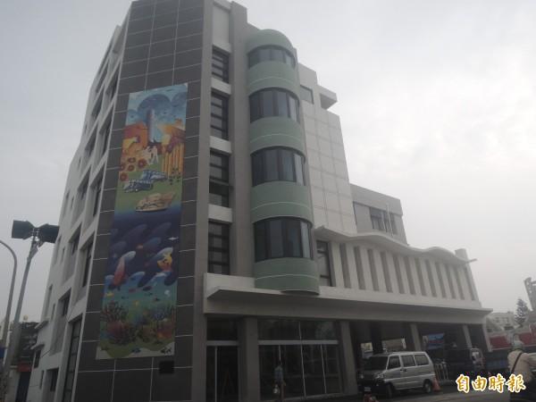 澎湖縣議員陳慧玲提案,新建公車總站命名為拱辰車站。(記者劉禹慶攝)